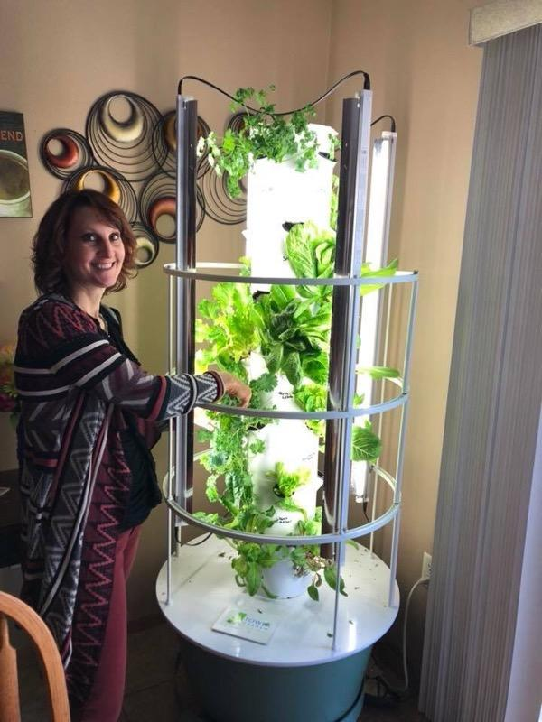 Penny with Aeroponic growing system